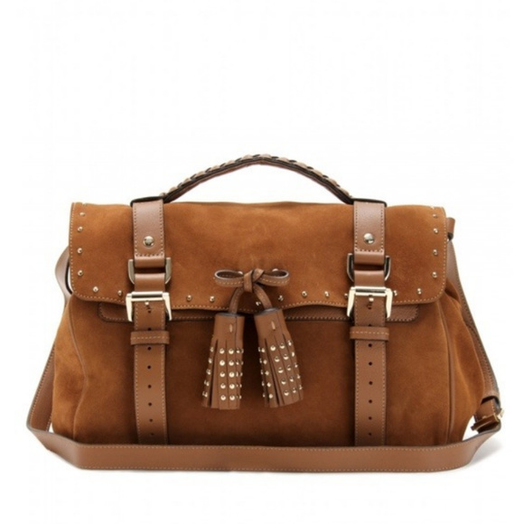 Authentic Rare Mulberry Alexa studded suede bag f1c6f383bb731
